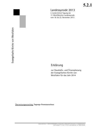 Haushaltsrede über den landeskirchlichen Haushalt 2013