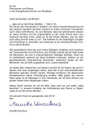 Kollektenplan 2014 - Evangelische Kirche von Westfalen