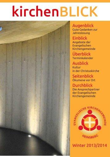 kirchenBLICK - Evangelische Kirchengemeinde Heinsberg