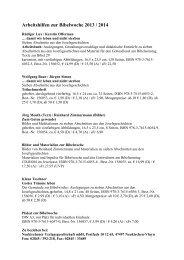 Arbeitshilfen zur Bibelwoche 2013 / 2014