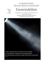 Februar / März 2014 - Evangelischen Kirche Deutscher Sprache