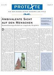 Ausgabe Nr. 54, August 2013 (PDF) - Evangelische Kirche der Pfalz