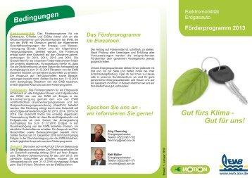 Förderprogramm Mobil 2013 - Energie- und Wasserversorgung ...