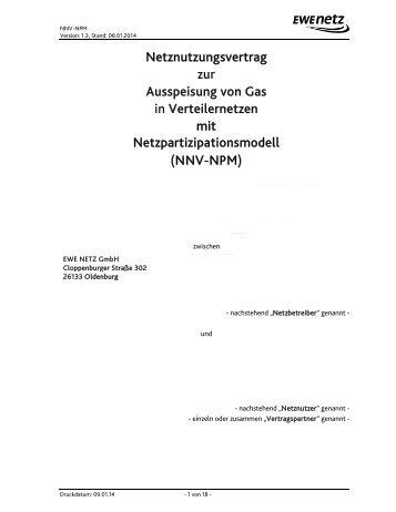Netznutzungsvertrag zur Ausspeisung von Gas ... - EWE NETZ GmbH