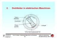 2. Drehfelder in elektrischen Maschinen - Institut für Elektrische ...