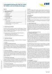 Leistungsbeschreibung der EWE TEL GmbH für Telefon-und ...