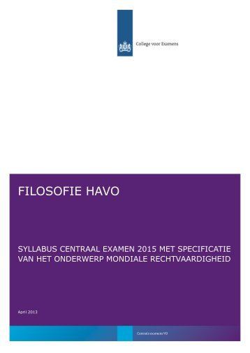 Syllabus 2015 filosofie, havo - Examenblad.nl