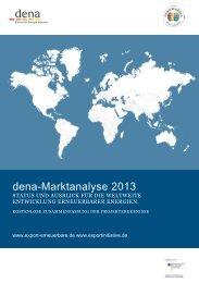 dena-Marktanalyse 2013 - Exportinitiative Erneuerbare Energien