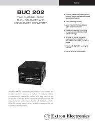 BUC 202 - Extron Electronics