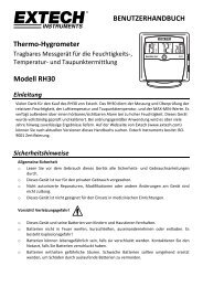 BENUTZERHANDBUCH Thermo-Hygrometer Modell RH30 - Extech ...