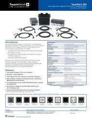 TeamWork 400i: Vorkonfiguriertes digitales ... - Extron Electronics