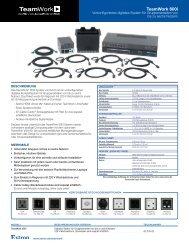 TeamWork 600i: Vorkonfiguriertes digitales ... - Extron Electronics