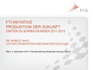Auswertungen zum Thema Produktion - Fabrik der Zukunft