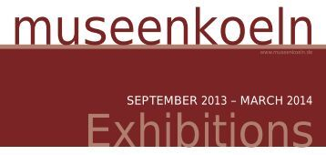 SEPTEMBER 2013 – MARCH 2014 - Exponatec