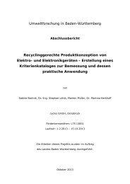 Recyclinggerechte Produktkonzeption von Elektro - Baden ...