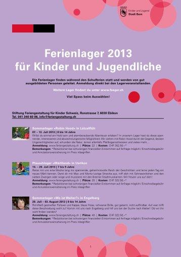 Ferienlager-Kalender