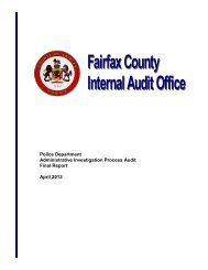 Administrative Investigation Process Audit - Fairfax County ...