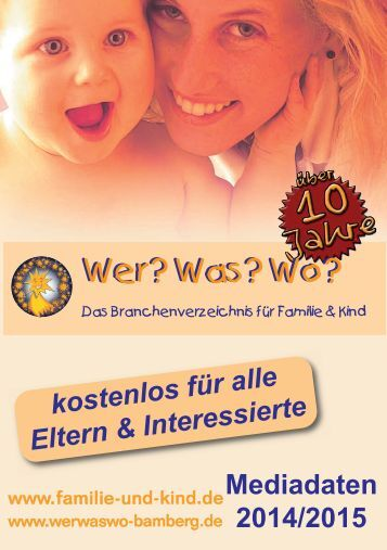 Ausgabe Bamberg - Das Branchenverzeichnis für Familie & Kind