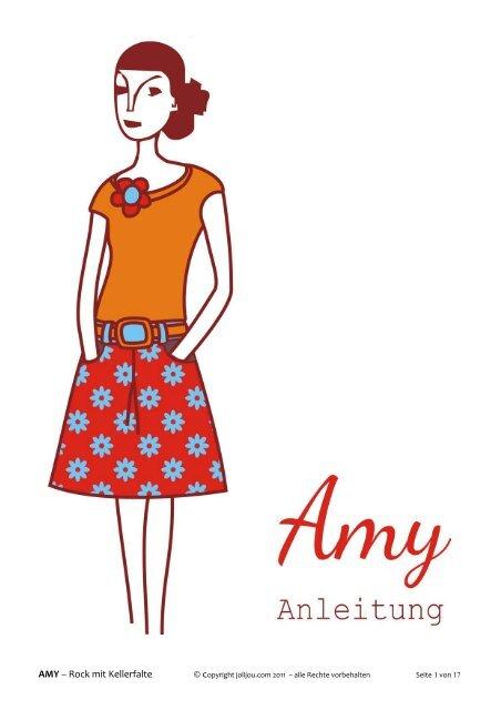 AMY – Rock mit Kellerfalte - Farbenmix