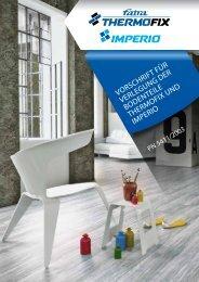 Installation und Pflege Thermofix/Imperio - Fatra