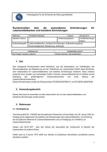 Rundschreiben über die anwendbaren Anforderungen für ... - Favv