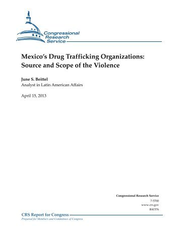 Mexico's Drug Trafficking Organizations - Federation of American ...