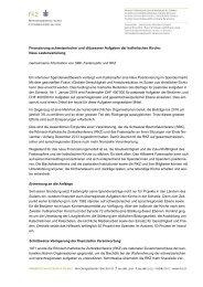 Finanzierung schweizerischer und diözesaner ... - Fastenopfer