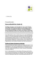 GesundheitsPark (Halle 8) inkl Programm - Consumenta