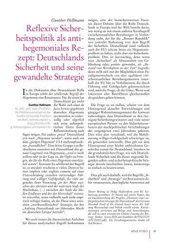Deutschlands Sicherheit und seine gewandelte Strategie - Goethe ...