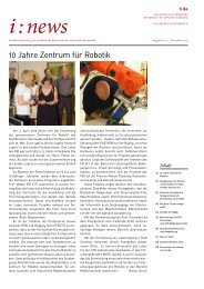 i:news - Fachbereich Informatik - Hochschule Darmstadt