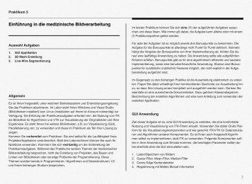 Einführung in die medizinische Bildverarbeitung