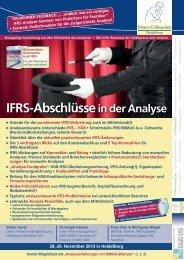 IFRS-Abschlüssein der Analyse