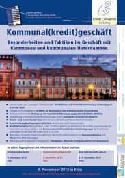 Kommunal(kredit)geschäft - Finanz Colloquium Heidelberg