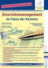 Zinsrisikomanagement - Finanz Colloquium Heidelberg