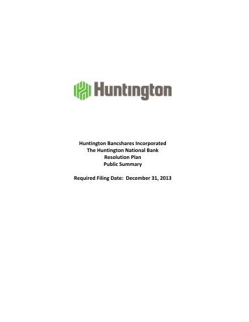 Huntington combined idi and title 1 public plan - FDIC