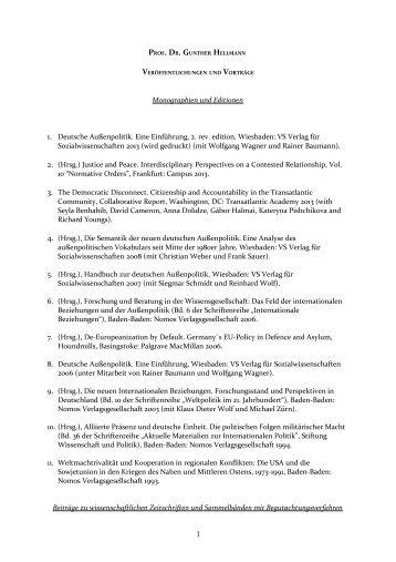Monographien und Editionen - Johann Wolfgang Goethe-Universität ...