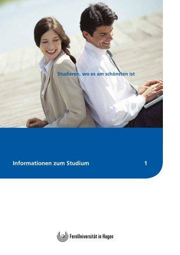 Informationen zum Studium 1 - FernUniversität in Hagen