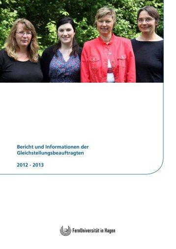 Bericht und Informationen der Gleichstellungsbeauftragten 2012 ...