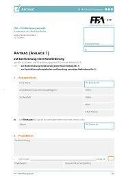 Antrag (Anlage 1) - FFA