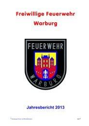 Jahresbericht 2013 - Freiwillige Feuerwehr Warburg