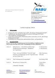 A r b e i t s p l a n  2 0 1 4 - NABU-Fachgruppe Ornithologie ...