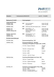 Stundenplan Wintersem. 13/14, Wochen 1 & 2