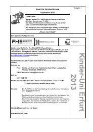 Post für Schlaufüchse - Fachhochschule Erfurt