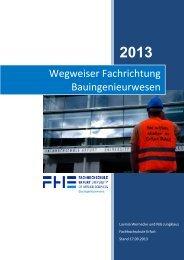 Wegweiser Fachrichtung Bauingenieurwesen - Fachhochschule Erfurt