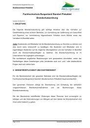 Brandschutzordnung - FH Burgenland