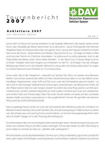 von Reinhart Kästel als PDF (97kb) - DAV Sektion Speyer
