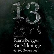 programmheftKurzfilmtage2013_low. pdf - Fachhochschule Flensburg