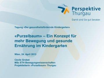Tagung «Der gesundheitsfördernde Kindergarten» «Purzelbaum ...