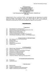 Wirtschaftspsychologie (WPS) 2011 - Fachhochschule Bielefeld