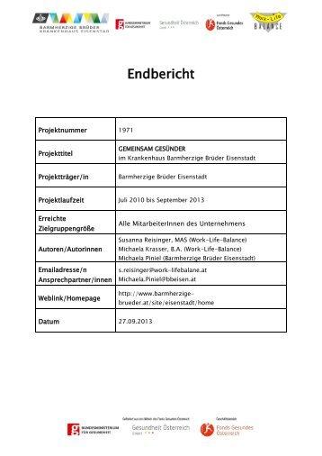Endbericht - Fonds Gesundes Österreich